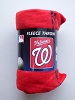 Washington Nationals MLB Baseball 50x60 Fleece Fabric Throw