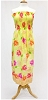 Pre-Smocked Floral Yellow Stripe Multi Elasticized Gathered Easy-to-Make Shirred Sundress Fabric Print by the Yard (12320-y)