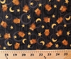 Cotton Owls Birds Moons Stars Halloween Scaredy Cats Black Cotton Fabric Print by the Yard (1862-67511-925)