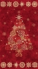 Starry Night Tree Panel Fabric Kit - Cranberry Red - Sold by the Kit