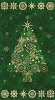 Starry Night Tree Panel Fabric Kit - Evergreen Green - Sold by the Kit