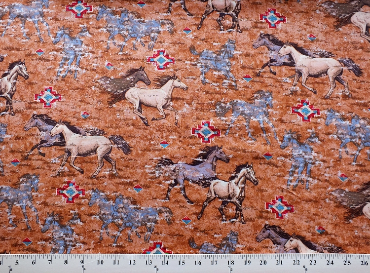 Cotton Horses Wild Stallion Southwestern Southwest Plains