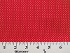 Cotton Tiny Polka Dots Circles Gold on Red Metallic Shimmer Glitter Cotton Fabric Print by the Yard (3816-45633-RED)