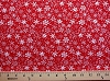 Merry Christmas Snowflakes on Red Cotton Fabric Print (3816-47353-RED)