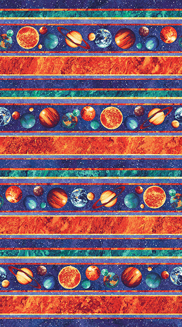 Cotton planets stars outer space solar system astronomy for Outer space fabric by the yard