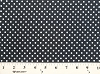 Matte' Jersey White Polka Dots on Black Fabric Print by the Yard (6078R-10K)