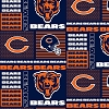 Cotton Chicago Bears Squares NFL Pro Football Cotton Fabric Print