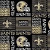 Cotton New Orleans Saints Squares NFL Pro Football Cotton Fabric Print