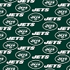 Cotton New York Jets Green NFL Pro Football Cotton Fabric Print