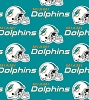 Cotton Miami Dolphins New Logo NFL Pro Football Cotton Fabric Print