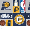 Cotton Indiana Pacers NBA Basketball Squares Cotton Fabric Print by the Yard