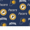 Indiana Pacers NBA Basketball Blue Fleece Fabric Print