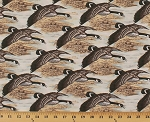 Canadian Geese Canada Goose Hunting Birds Waterfowl in Flight Nature Animals Wildlife Outdoors Landscape Scenic Pond Lake Marsh Nostalgic Hunt Cotton Fabric Print by the Yard (8465-3m)