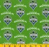 Cotton Seattle Sounders FC MLS Soccer Cotton Fabric Print by the Yard