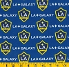 Cotton LA Los Angeles Galaxy MLS Soccer Cotton Fabric Print