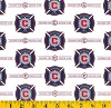 Cotton Chicago Fire MLS Soccer Cotton Fabric Print