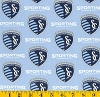 Cotton SC Sporting KC Kansas City MLS Soccer Cotton Fabric Print