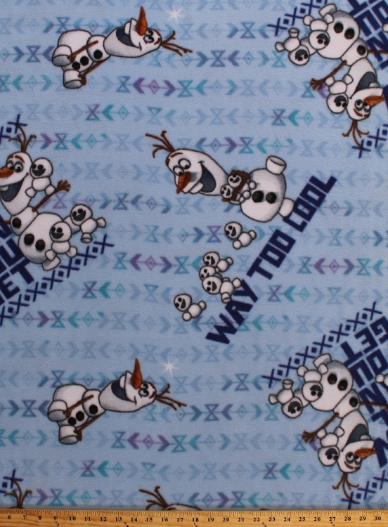 Fleece how cool can you get frozen olaf snowgies snowman for Children s flannel fabric by the yard