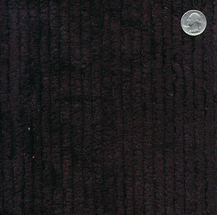 Cotton Terry Chenille Fabric By The Yard Black Tc0509 596