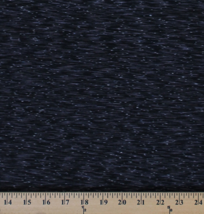 4 way stretch strata performance black gray space dye knit for Space fabric by the yard