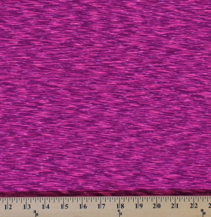 4 way stretch strata performance pink fuchsia white space for Space dye knit fabric by the yard