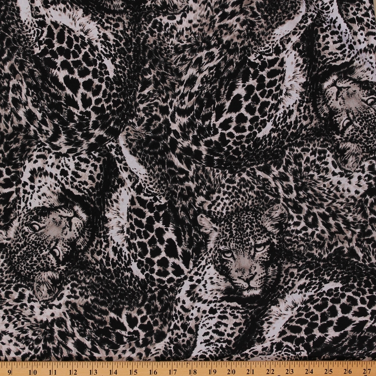 Cotton jaguars jaguar animal print wildcats wildcat jungle for Animal print fabric for kids