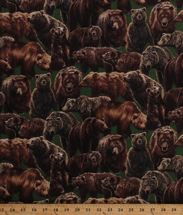 Cotton Living Wonders Brown Bears Grizzlies Grizzly Bear