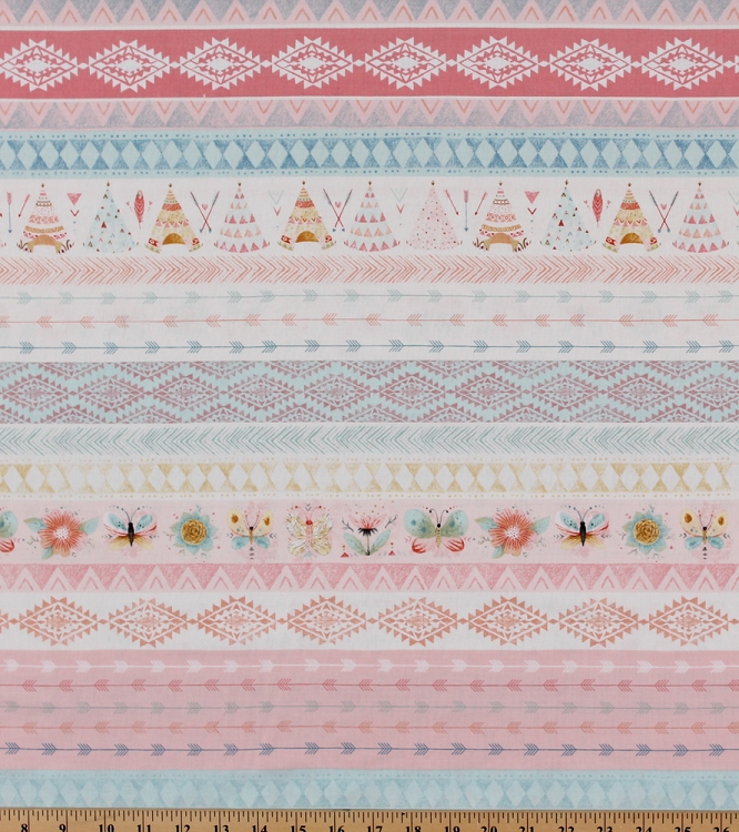 Cotton Dream Catchers South Western Teepees Teepee Tent Arrows Triangles Butterflies Flowers Aqua Peach Cotton Fabric Print by the Yard (3221-22)  sc 1 st  Fieldu0027s Fabrics & Cotton Dream Catchers South Western Teepees Teepee Tent Arrows ...