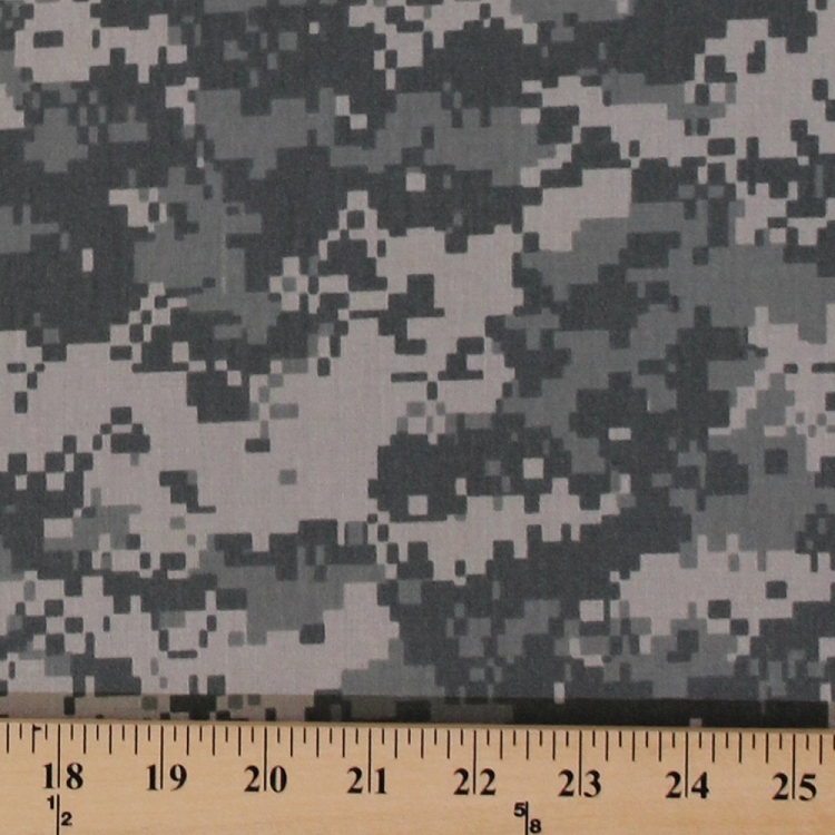 Digital Camo Camouflage Army Polyester Cotton Blend Twill