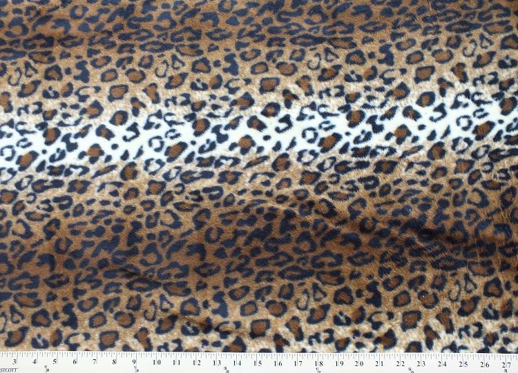 leopard skin animal fleece fabric print by the yard a19305b. Black Bedroom Furniture Sets. Home Design Ideas