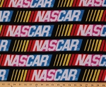 NASCAR Logo Racing Sports Fleece Fabric Print by the Yard (snc-2002-2a-1d)