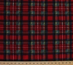 Fleece Holiday Colors Red Green White Blue Christmas Plaid Fleece Fabric Print by the Yard 35058-12n