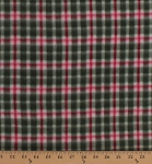 Fleece Red Green Christmas Plaid Checks Checkered Holiday Winter Fleece Fabric Print by the Yard (o1000plaid-red-greens)
