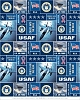 United States of America Air Force Fleece Fabric Print by the Yard ousaf012s