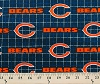 Flannel Chicago Bears NFL Professional Football Sports Team Flannel Fabric Print