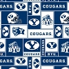 BYU, Brigham Young University™ Cougars™ College Fleece Fabric Print