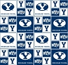 Cotton Brigham Young University BYU College Cotton Fabric Print (sbyu020s)
