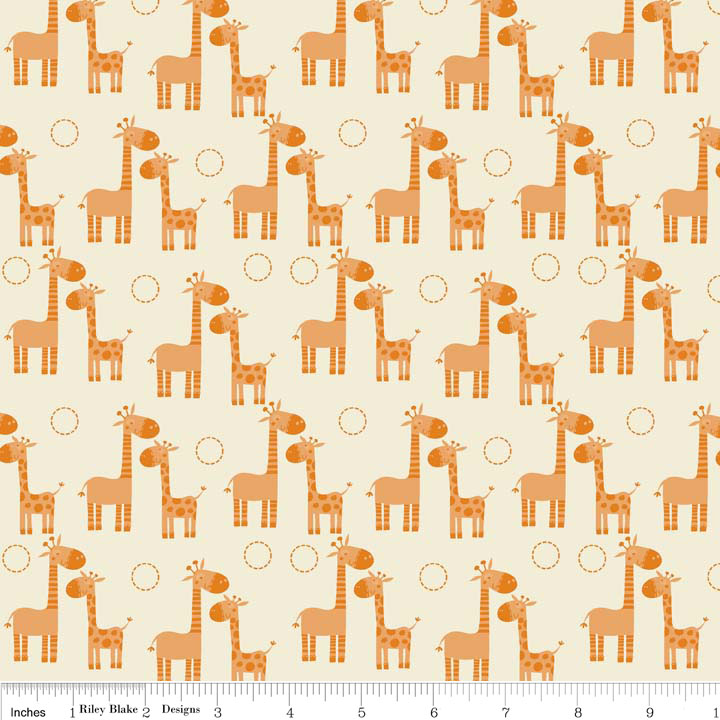 Cotton giraffes mother and baby giraffe cute animals for Cute baby fabric prints