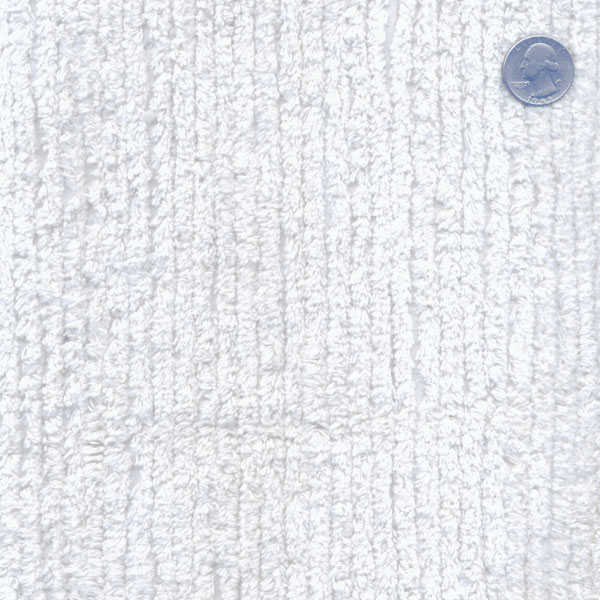 Cotton Terry Chenille Fabric By The Yard White Tc0501 596