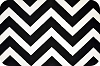 Chevron Cuddle Fabric - Black/White