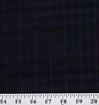 Pinstripes Black with Red Stripes Stripe Pinstripe Fabric Print by the Yard (4074R-9J)