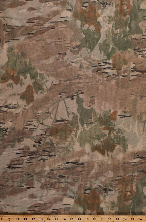 Camo Tan Mosquito Tent Netting Net Woods Forest Leaves Camouflage Mesh Fabric By the Yard (D179.10) & Camo Tan Mosquito Tent Netting Net Woods Forest Leaves Camouflage ...