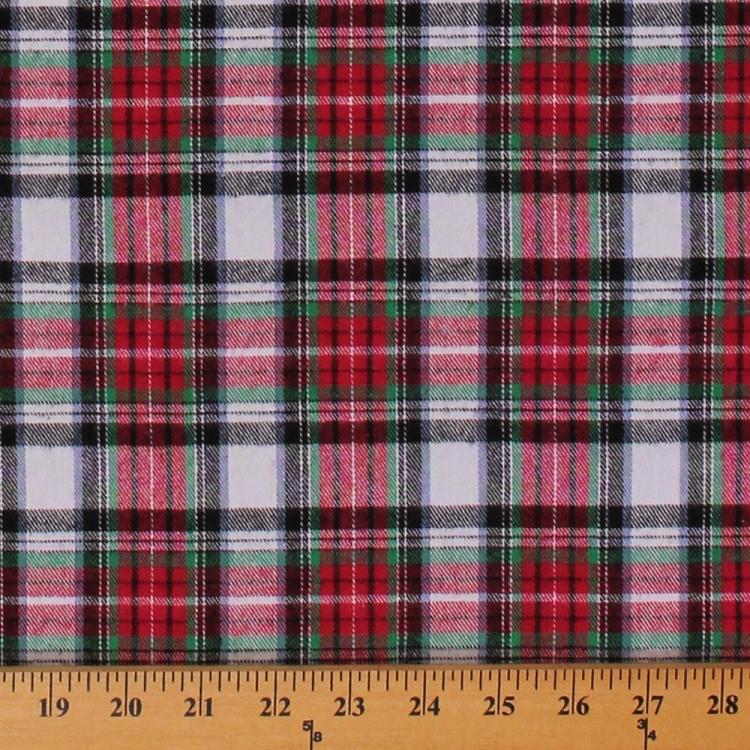 Flannel Red White Black Plaid 55 Quot Wide Cotton Flannel
