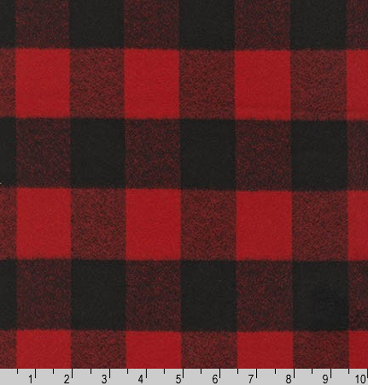 Flannel mammoth flannel buffalo plaid buffalo check red for Flannel fabric
