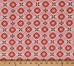 Cotton Secret Garden Floral Pink and Brown Flowers Petals Cotton Fabric Print by the Yard (9085w-9m)