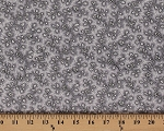 Cotton Vintage Rose Flowers Floral White Roses on Gray Cotton Fabric Print by the Yard (8532m-4m-gray)