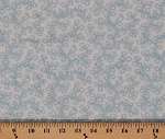 Cotton Vintage Rose Flowers Floral White Roses on Light Blue Cotton Fabric Print by the Yard (8532m-4m-blue)