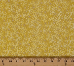 Cotton Vintage Rose Flowers Floral White Roses on Yellow Cotton Fabric Print by the Yard (8532m-4m-yellow)