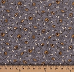 Cotton S'mores Smores Camping Campfire Food Marshmallows Vacation Parks & Recreation Gray Cotton Fabric Print by the Yard (3926-90)