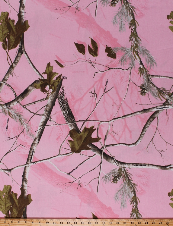 60 Quot Realtree Twill Pink Camo Camouflage Leaves Trees